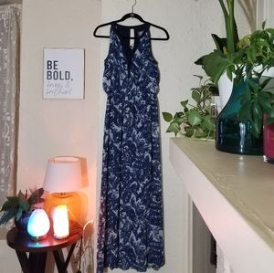 Vince Camuto  navy blue and white maxi dress